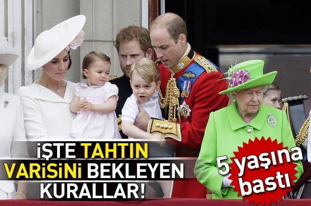 Tahtın varisi Prens George 5 yaşına girdi!