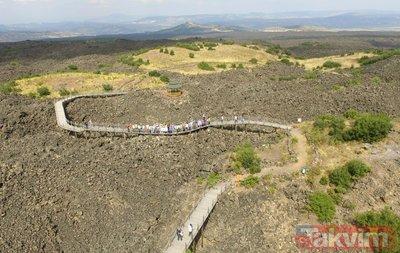 Kula Jeoparkı'na ilgi hızla büyüyor! 5 yılda 11 kat ziyaretçi artışı oldu