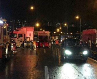Son dakika: Zincirleme kaza! TEM otoyolu Ankara istikameti ulaşıma kapandı