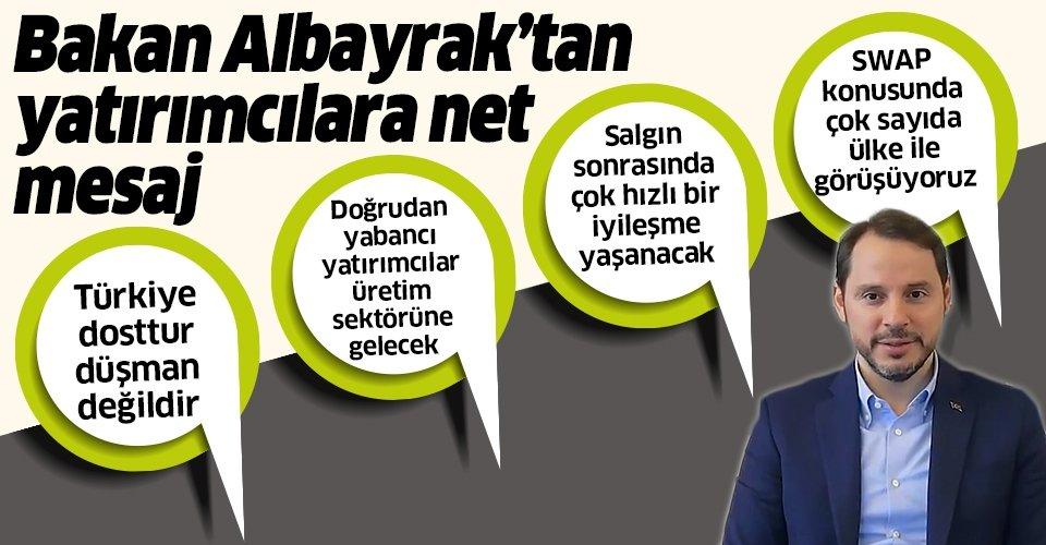 Hazine ve Maliye Bakanı Berat Albayrak'ın uluslararası yatırımcılarla yaptığı toplantının detayları ortaya çıktı