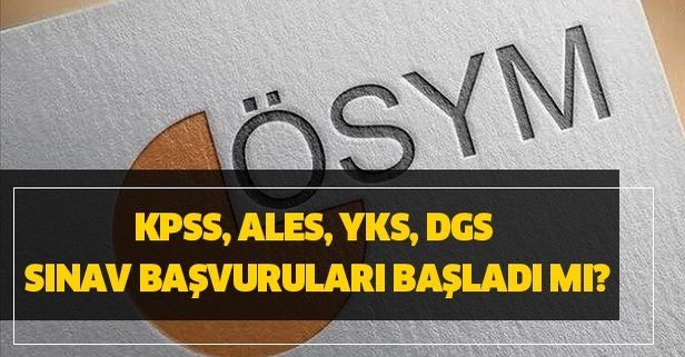 KPSS, ALES, YKS, DGS sınav tarihleri belli oldu!