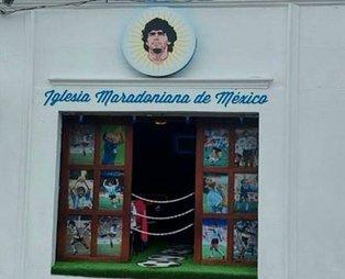 Maradona adına ikinci kilise Meksika'da açıldı