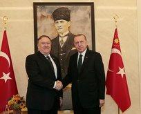 Başkan Erdoğan Pompeo ile görüştü