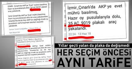 """""""Oylar çalınıyor"""" yalanı 24 Haziran öncesi de devrede"""