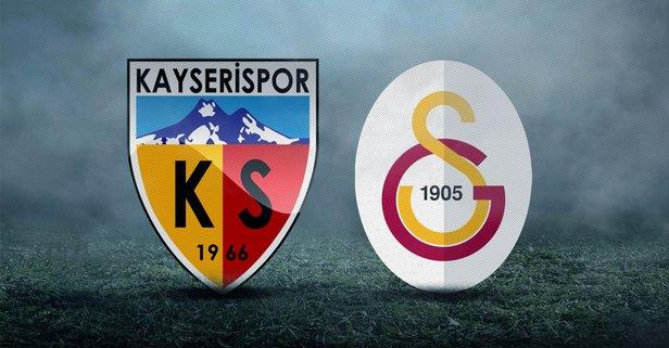 Kayserispor - Galatasaray maçı saat kaçta?