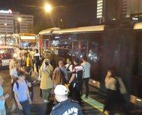 Metrobüs yolunda kaza! Yaralılar var
