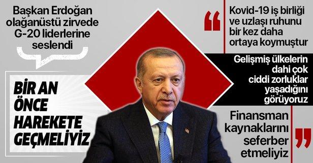 Başkan Erdoğan G-20'de liderlere seslendi