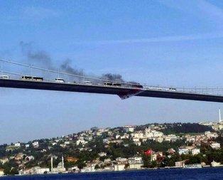 Otomobili ateşe verdi, köprüden aşağıya atladı!