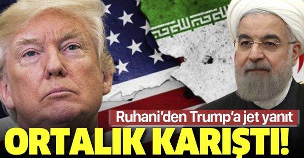 Ruhani'den Trump'a jet yanıt