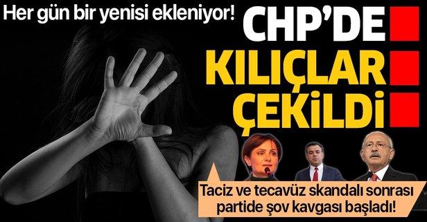 Taciz ve tecavüzler CHP'yi karıştırdı