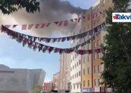 Özel hastanede yangın çıktı