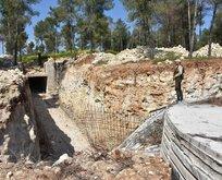 Afrin'de yeraltında şoke eden manzara