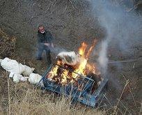 Torba torba yakıldı! Tam 327 kilogram...