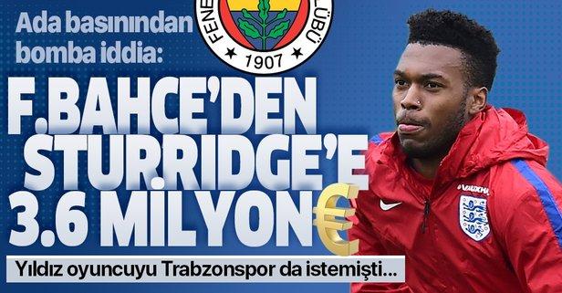 Sturridge'e 3.6 milyon Euro