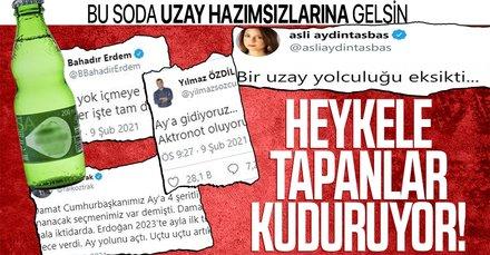 Heykeli hizmetten sayıp yere göğe sığdıramayan zihniyet Türkiye'nin Milli Uzay Programı'nı hedef aldı!