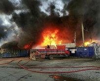 Sakarya'da fabrika yangını! Patlama riski var