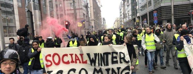 Belçika'da 'sarı yelekliler' protestosu