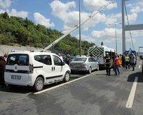 2. Köprü girişinde zincirleme kaza!
