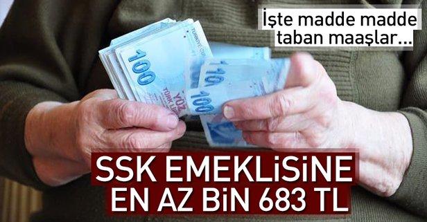 SSK emeklisine en az bin 683 TL