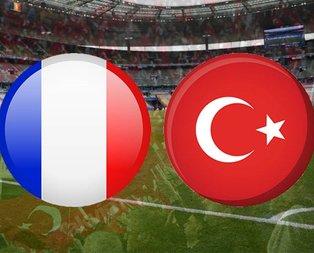 Fransa-Türkiye milli maç ne zaman?