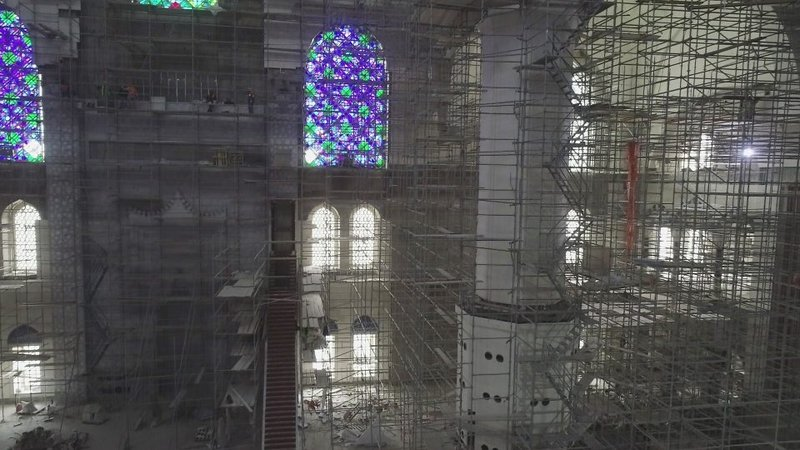 Çamlıca Camiinin içi ilk kez görüntülendi