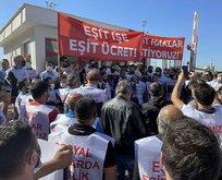 İzmir'de metro çalışanları toplu iş sözleşmesi için grevde!