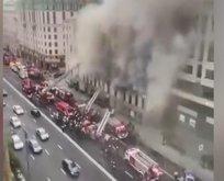 Moskova'nın merkezi alev alev yandı