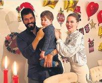 Burak Özçivit ve Fahriye Evcen'in oğulları Karan, okula başladı