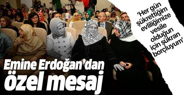 Emine Erdoğan'dan Şenler için özel mesaj