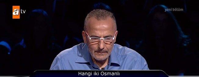 Kim Milyoner Olmak İster yeni bölümüne damga vuran Osmanlı Padişahı sorusu