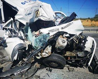 İnanılmaz kaza! Araçlar paramparça oldu