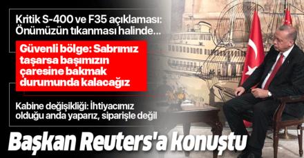 Son dakika: Başkan Erdoğan: F-35'lerde önümüzün tıkanması halinde çaresine bakacağız