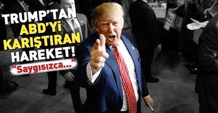 Trumptan ABDde isyan çıkartacak açıklama!