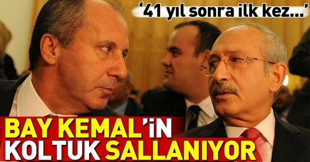 CHPde taht kavgası! Kemal Kılıçdaroğlunun koltuk sallanıyor!