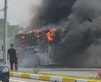 Balıkesir'de otobüs yangını: Çok sayıda ölü var