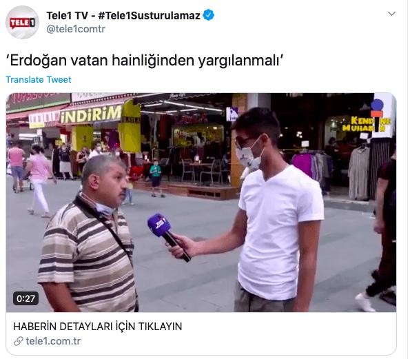 FETÖ tetikçisi TELE1'den alçak hareket! Başkan Erdoğan'ı vatan haini göstermeye çalıştılar! - Takvim