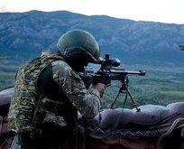 Taciz atışı yapan 4 PKK/YPG'li etkisiz hale getirildi