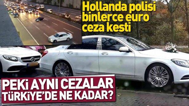 Hollandada Türkiye usulü düğün konvoyuna binlerce euro ceza 82