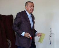 Başkan Erdoğan oyunu Üsküdar'da kullandı