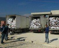 İdlib'e 7 tır yardım malzemesi