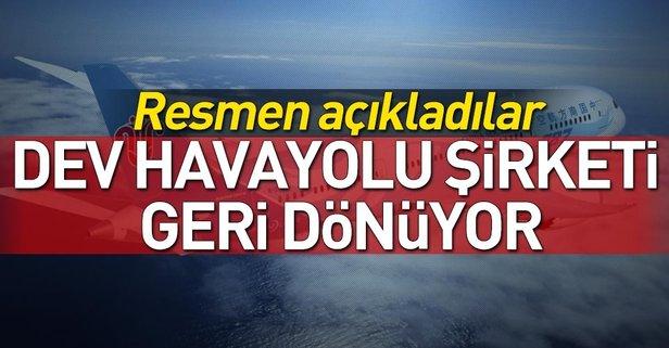 Dev havayolu şirketi geri dönüyor: Türkiye seferlerini başlatıyoruz