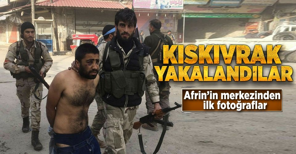 ÖSO Afrin ilçe merkezinde! İşte ilk fotoğraflar