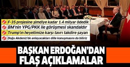 Başkan Recep Tayyip Erdoğan'dan BM'ye YPG/PKK tepkisi