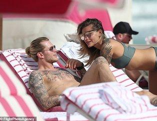 Beşiktaş'ın kalecisi Loris Karius Miami'de Alman model Sophia Thomalla ile görüntülendi