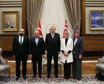 Başkan Erdoğan makamında kabul etti!