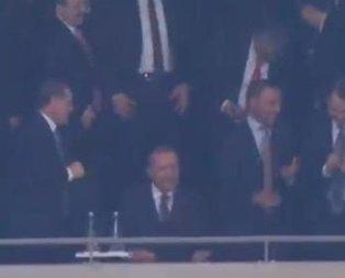 Taliscanın golü sonrası Cumhurbaşkanı Erdoğan böyle sevindi
