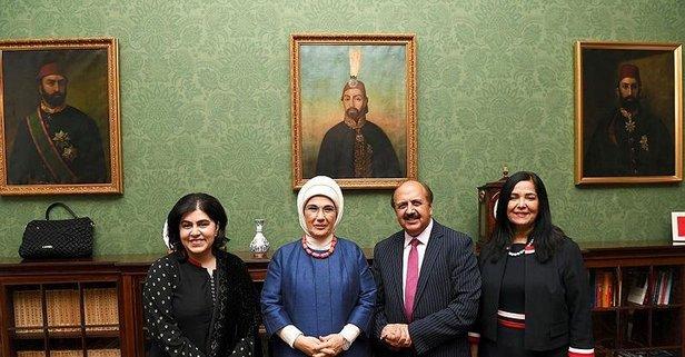 Emine Erdoğan'dan Londra'da önemli temaslar