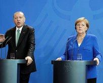 Erdoğan ve Merkel basın toplantısında açıklamalarda bulundu