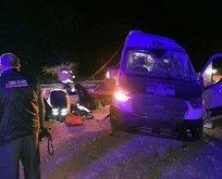 Yozgat'ta minibüs devrildi! Çok sayıda yaralı var