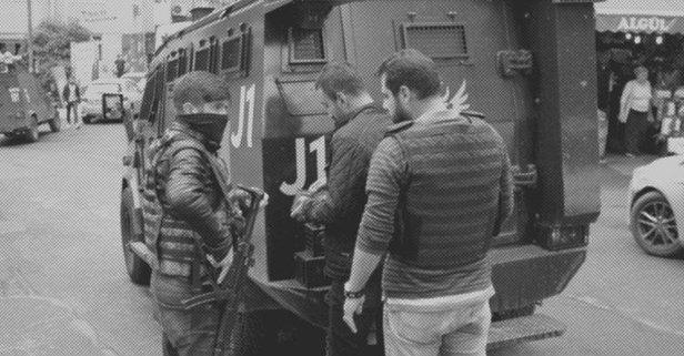 PKK üyesi sınırda enselendi!